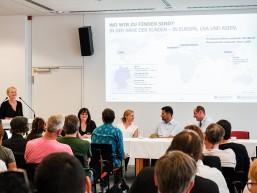 Astrid Freiding, Personalerin bei Berliner Glas beim Infotag zur Fachkraft Optik