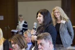 Das Publikum beteiligte sich mit Erfahrungen, Fragen und Wünschen an die Gäste der Podiumsdiskussion.