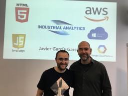 Praktikant Javier und Chef Dr. Strube von Industrial Analytics - Transnationales Mobilitätsprojekt
