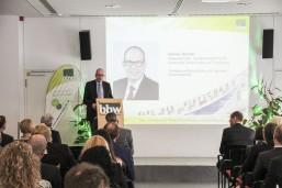 bbw Wirtschaftstag 2016 - Staatssekretär Henner Bunde, des Senats für Wirtschaft, Technologie und Forschung Berlin bei seinem Vortrag