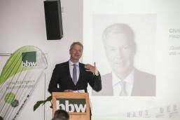 bbw Wirtschaftstag 2016 - Christian Amsinck, Hauptgeschäftsführer UVB beim Fachvortrag