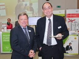 Dr. Reinhard Uppenkamp mit Dr. Andreas Forner beim bbw Zuwanderungstag 2015