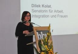 Dilek Kolat Arbeitssenatorin als Rednerin beim bbw Zuwanderungstag