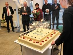 10 Jahre bbw Hochschule in Berlin - die Geburtstagstorte