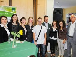 """Das internationale Projektteam von """"Mobipro-EU"""" beim bbw Zuwanderungstag 2015"""