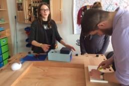 Künftige Erzieher und Sozialassistenten erarbeiten Lernkonzepte zum praktischen Lernen in unserer Lernwerkstatt.